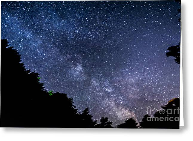 Milky Way Over Silver Springs Campground Greeting Card