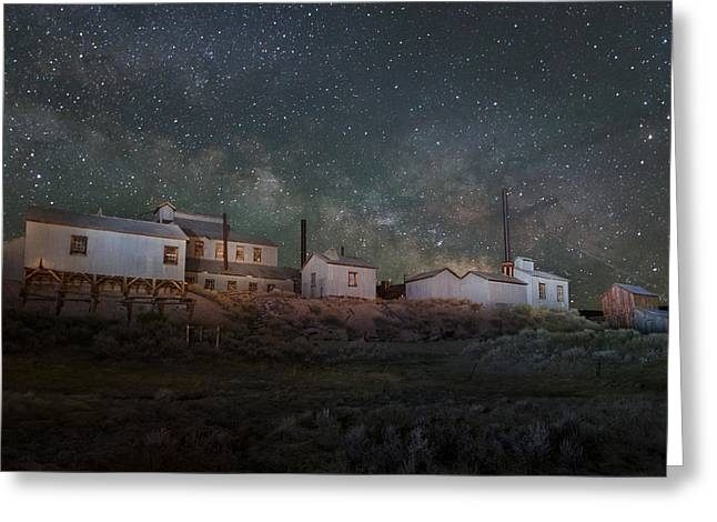 Milky Way Over Standard Mill Greeting Card