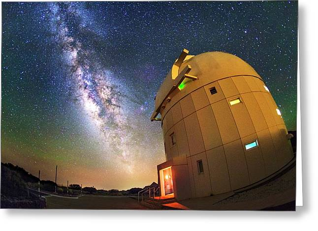 Milky Way Over Tenerife Telescope Greeting Card by Juan Carlos Casado (starryearth.com)