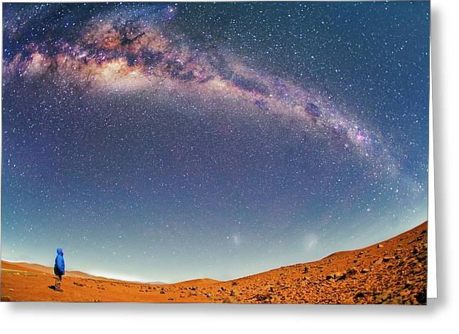 Milky Way Over The Atacama Desert Greeting Card by Juan Carlos Casado (starryearth.com)