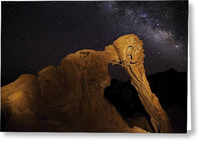 Greeting Card featuring the photograph Milky Way Over The Elephant 3 by James Sage