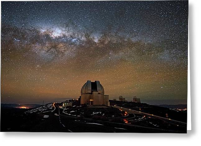 Milky Way Over The Mpg Eso Telescope Greeting Card