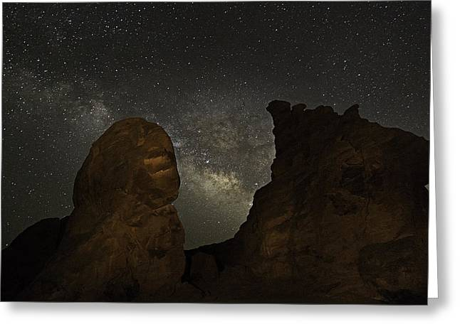 Greeting Card featuring the photograph Milky Way Over The Seven Sisters 3 by James Sage