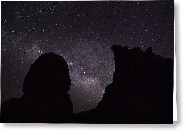Greeting Card featuring the photograph Milky Way Over The Seven Sisters 5  by James Sage