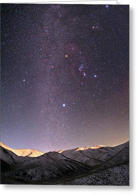 Milky Way Over Zagros Mountains Greeting Card