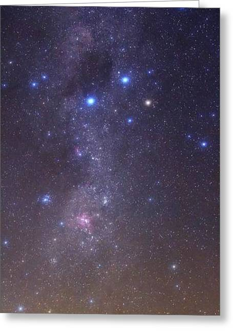 Milky Way Stars And Nebulae Greeting Card by Luis Argerich