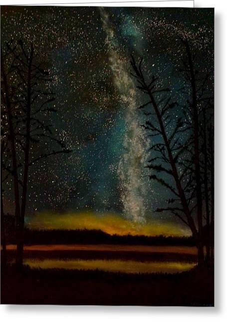 Milky Way Greeting Card by Steve Hermann