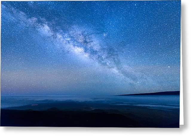 Milky Way Suspended Above Mauna Loa 1 Greeting Card