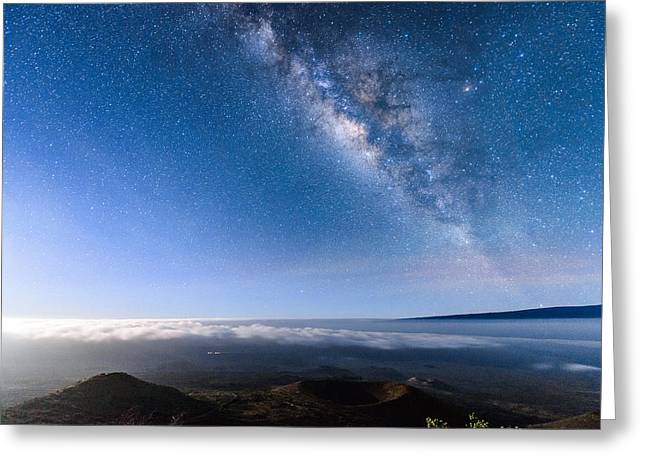 Milky Way Suspended Above Mauna Loa 2 Greeting Card