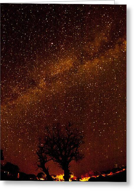 Milky Way Tree Greeting Card