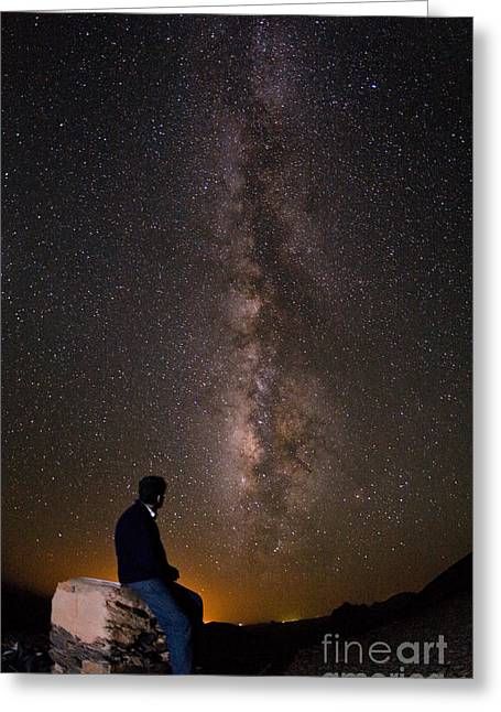 Milky Way Viewed From Ahaggar Mountains Greeting Card