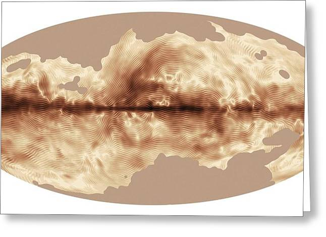 Milky Way's Magnetic Field Greeting Card by Esa Planck Collaboration