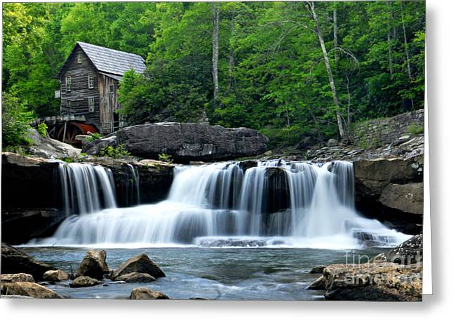 Mill And Waterfall Greeting Card by Larry Ricker