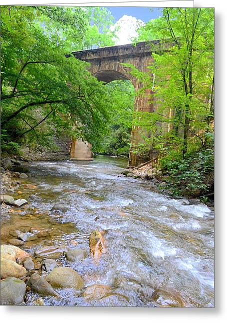 Mill Creek Viaduct Greeting Card by Bob Jackson
