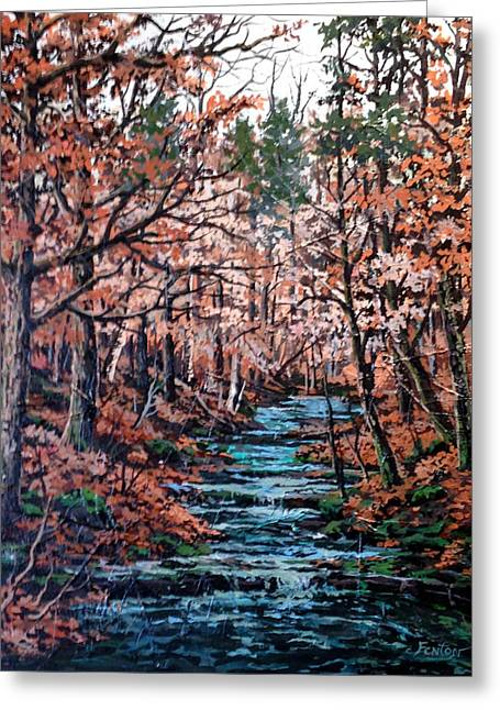 Mill Creek Greeting Card by W  Scott Fenton