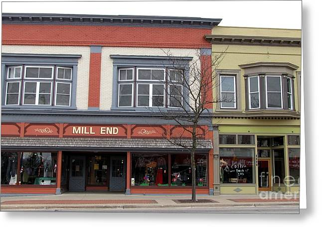 Mill End Store In Clare Michigan Greeting Card