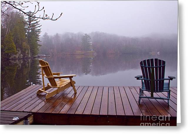 Mill Lake Mist Greeting Card
