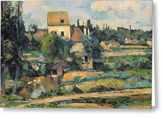 Mill On The Couleuvre At Pontoise Greeting Card by Paul Cezanne