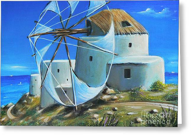 Mill On The Hill Greeting Card by S G