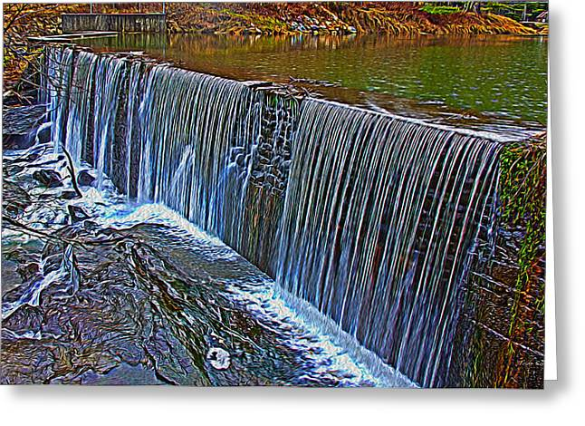 Mill Pond Spillover  Greeting Card