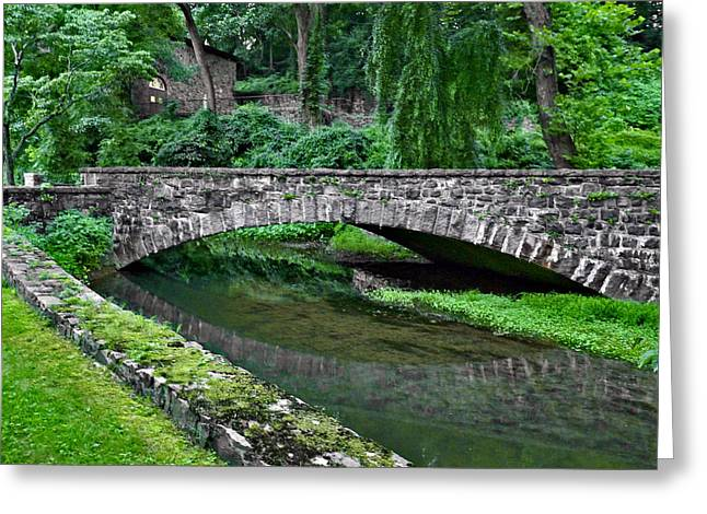 Mill Race Bridge. Hagley Museum. Greeting Card