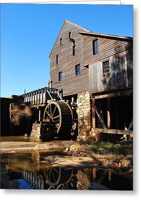 Greeting Card featuring the photograph Mill Reflection by Bob Sample