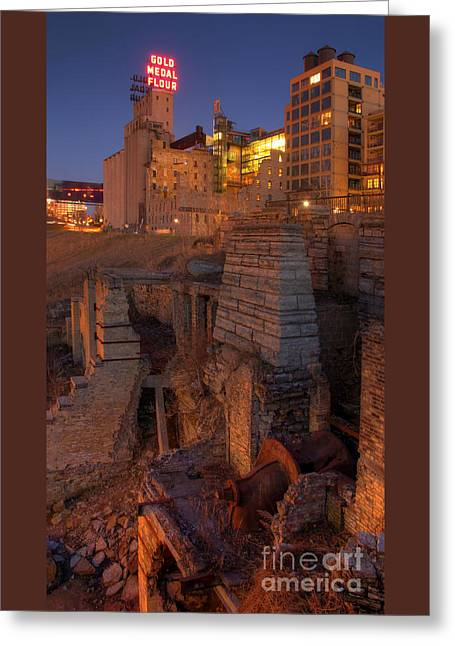Mill Ruins Park Greeting Card by Kent Taylor