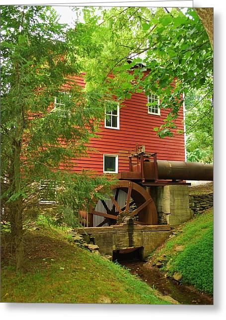 Greeting Card featuring the photograph Grist Mill Water Wheel by Bob Sample