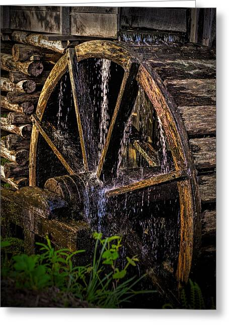 Mill Wheel Greeting Card by Dave Bosse