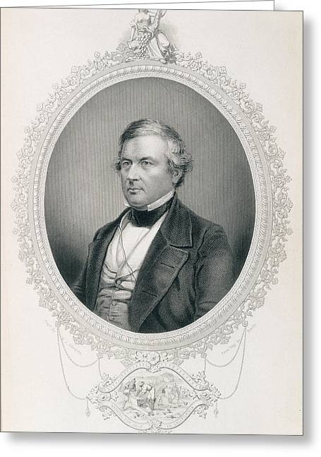 Millard Fillmore, From The History Of The United States, Vol.ii, By Charles Mackay, Engraved Greeting Card by Mathew Brady