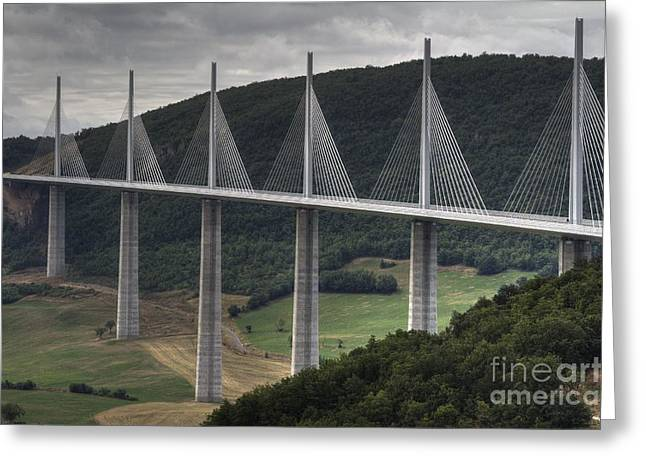 Millau Viaduct In France Greeting Card by Heiko Koehrer-Wagner