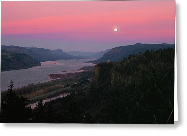 Millenium Moon Over Crown Point Greeting Card