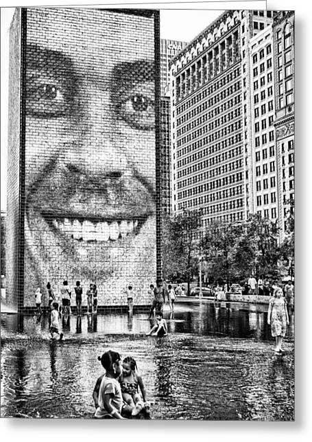 Millenium Park Smile Greeting Card by Robert  FERD Frank
