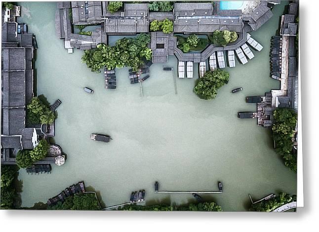 Millennium Ancient Town Greeting Card by Zhou Chengzhou