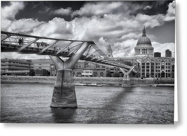 Millennium Bridge - St Pauls Cathedral Greeting Card