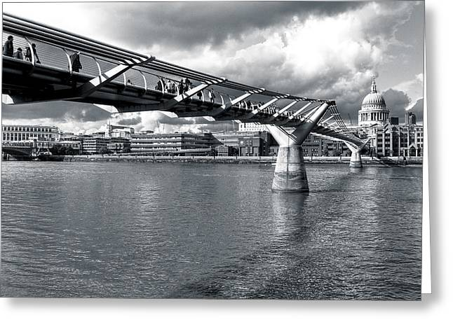 Millennium Foot Bridge - London Greeting Card by Mark E Tisdale