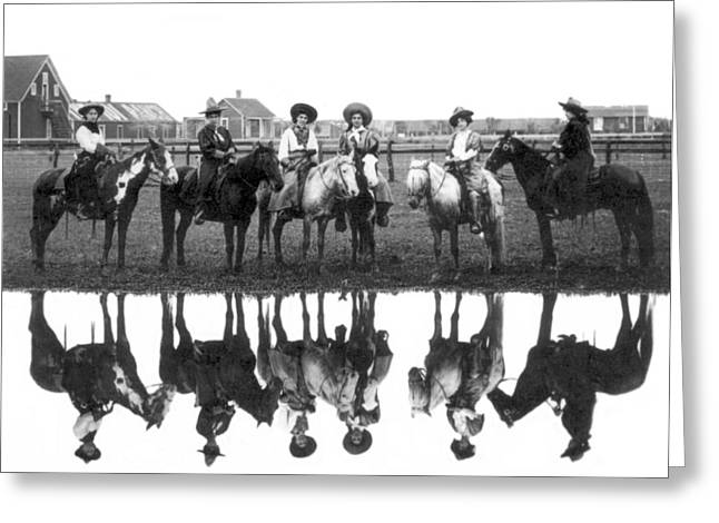 Miller Brothers 101 Ranch Cowgirls Greeting Card