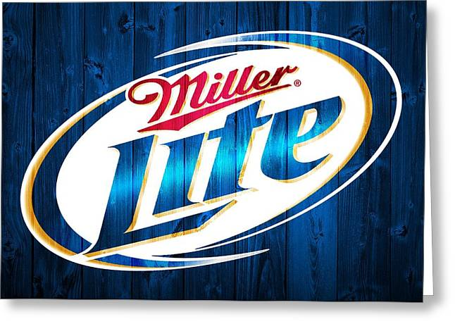 Miller Lite Barn Door Greeting Card