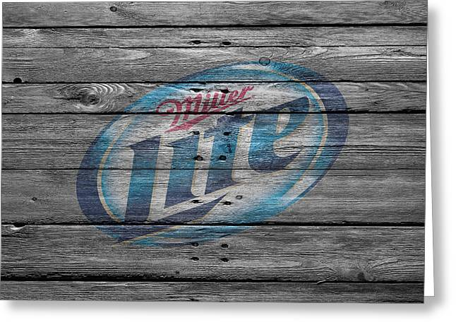 Miller Lite Greeting Card by Joe Hamilton