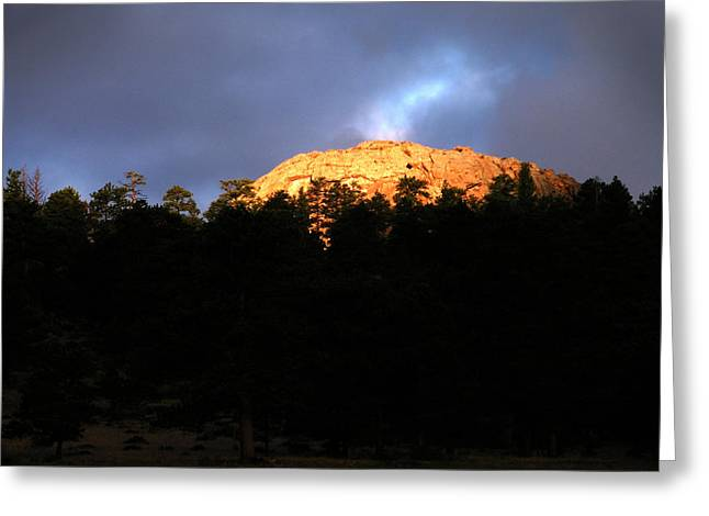 Greeting Card featuring the photograph Miller Moth Mountain by Craig T Burgwardt