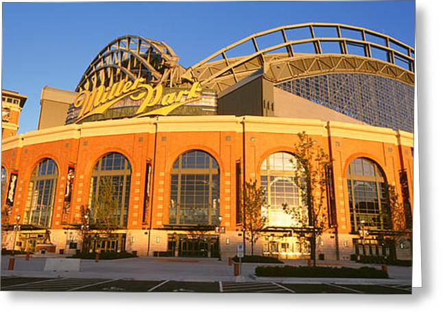 Miller Park Milwaukee Wi Greeting Card by Panoramic Images