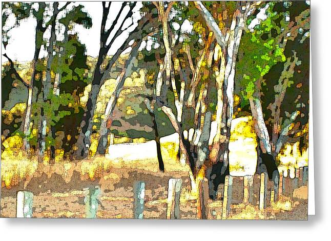 Miller Road Greeting Card by Artist and Photographer Laura Wrede