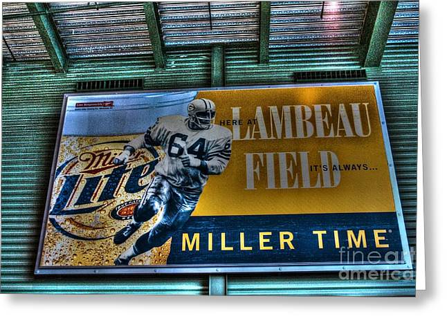 Miller Time At Lambeau Field Greeting Card