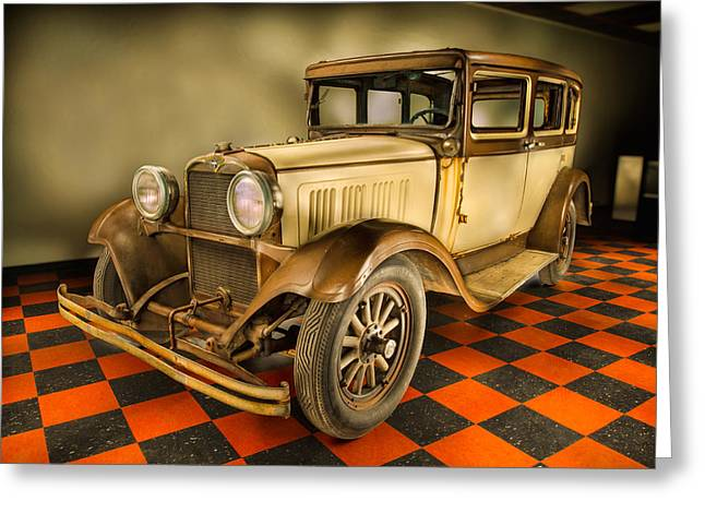 Millers Chop Shop 1929 Dodge Victory Six Before Greeting Card by Yo Pedro