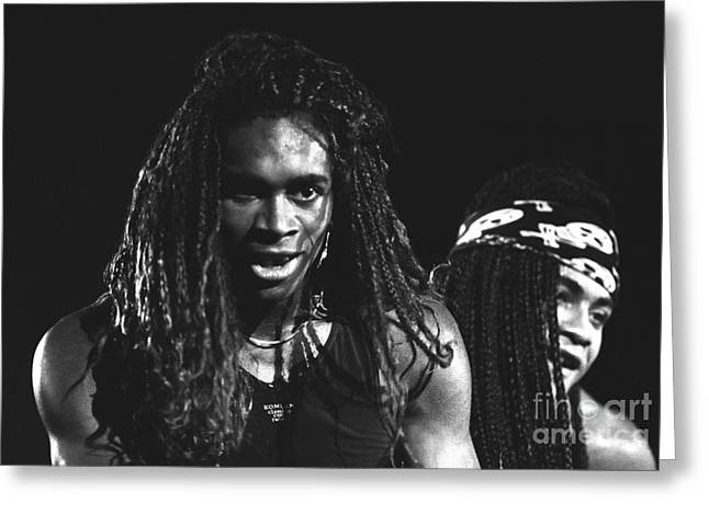 Milli Vanilli Greeting Card by Concert Photos