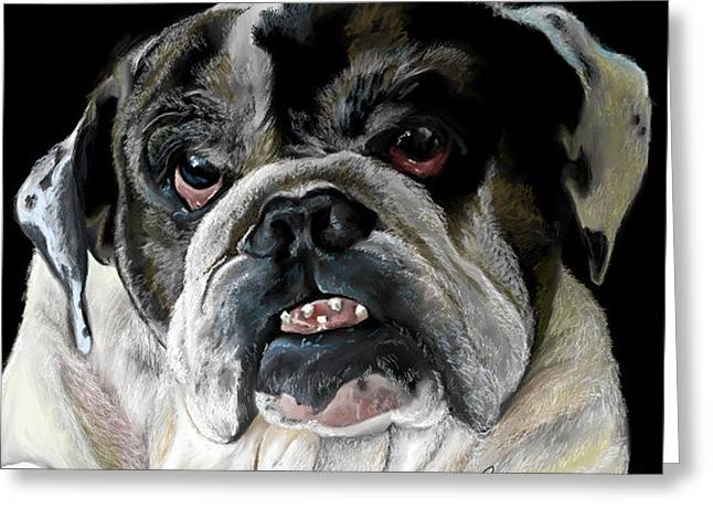 Millie The Bulldog Greeting Card