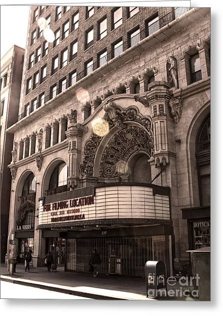 Million Dollar Theater - Los Angeles Greeting Card by Gregory Dyer
