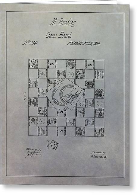 Milton Bradley Life Game Patent Greeting Card