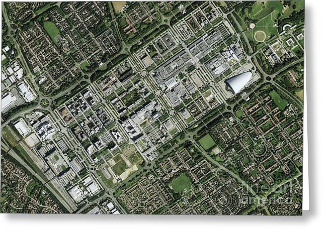 Milton Keynes, Aerial Photograph Greeting Card by Getmapping Plc