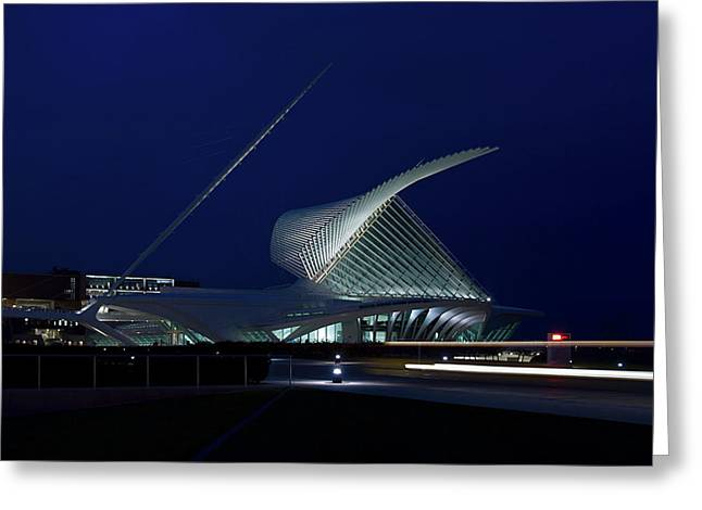Milwaukee Art Museum Greeting Card by Chuck De La Rosa